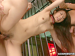 Yuzu Shiina Got Tied Up And Doublefucked In The Jail
